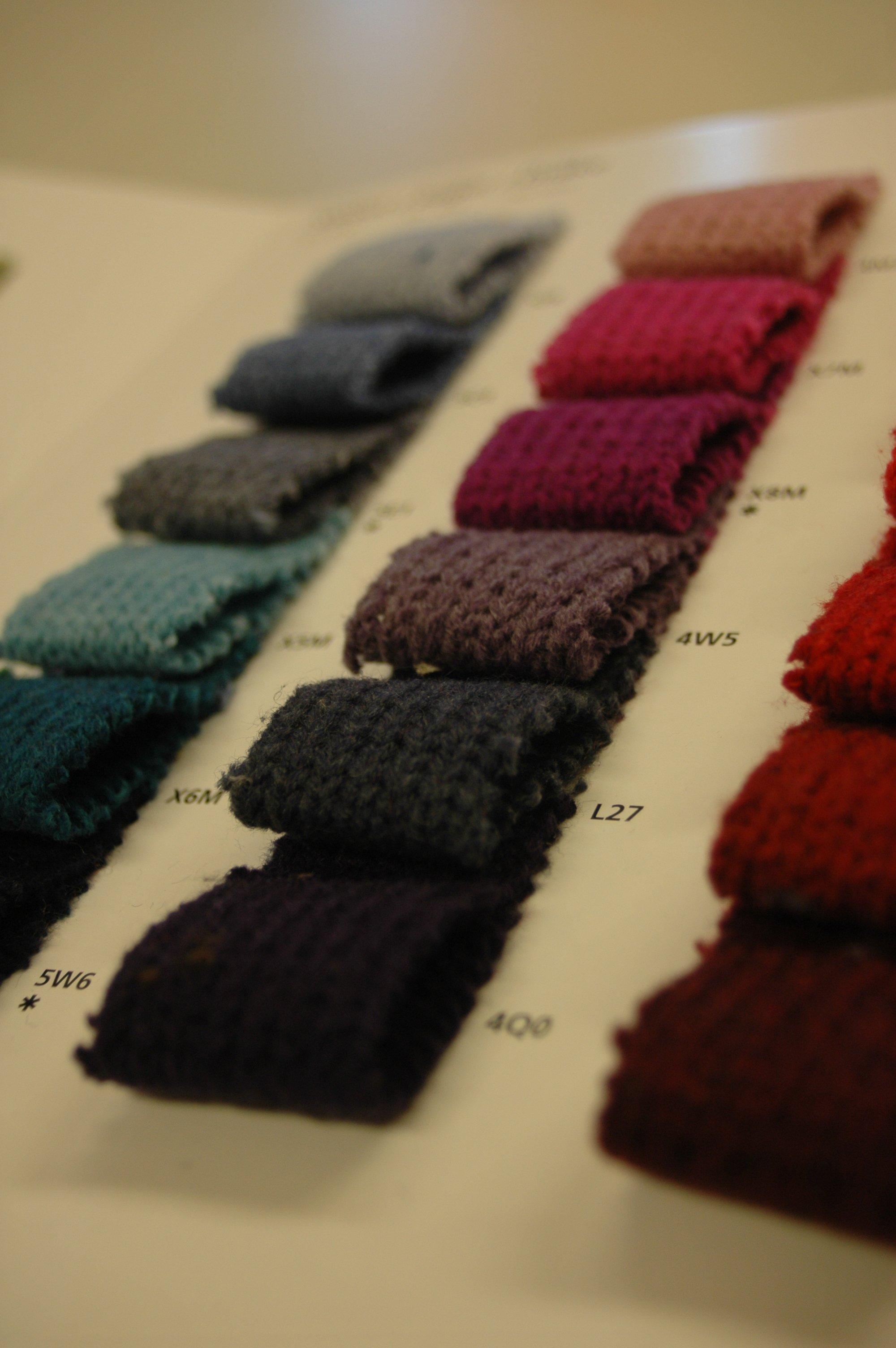 Fabric mill colourcard